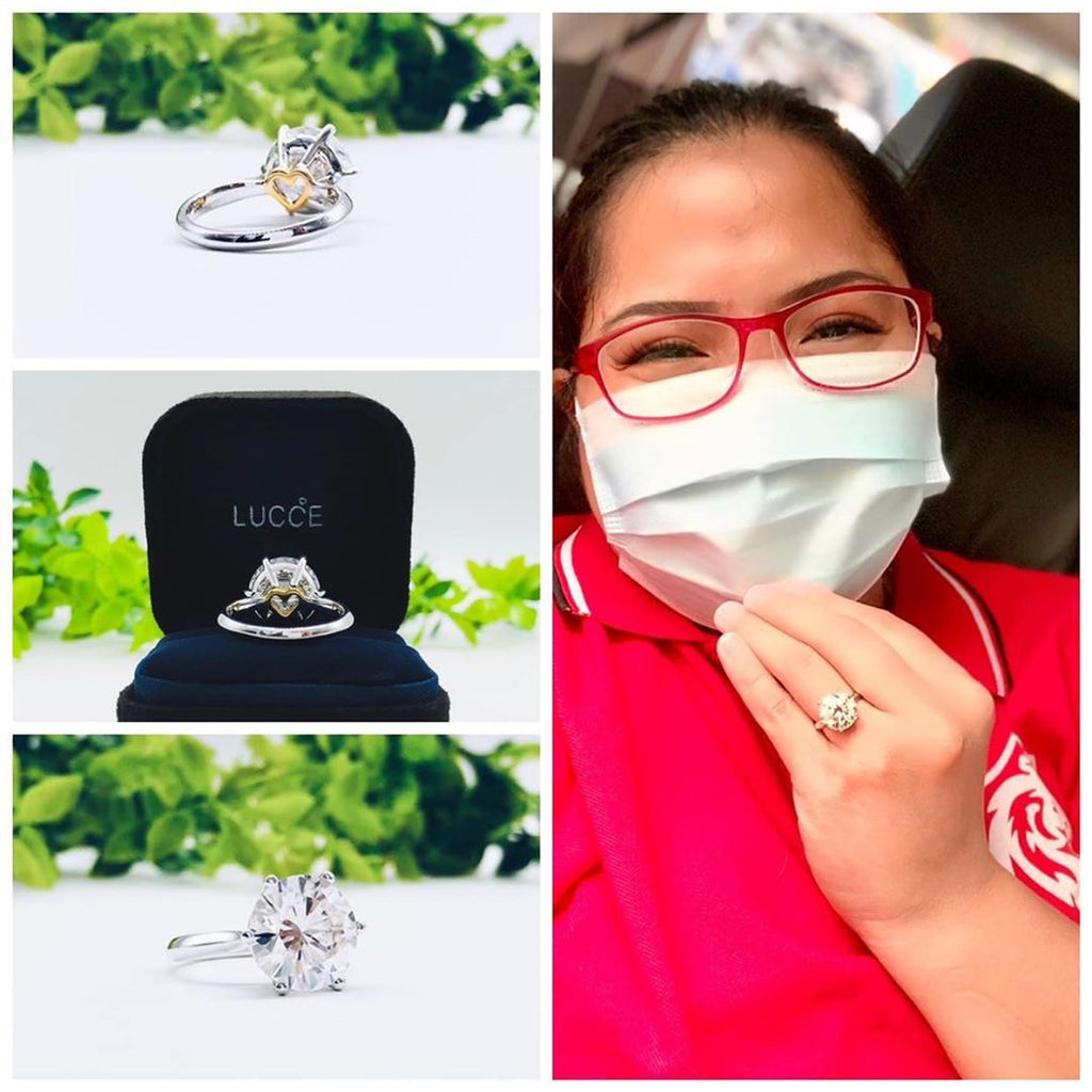 Moissanite Engagement Ring Proposal Ring Wedding Rings Manila Philippines