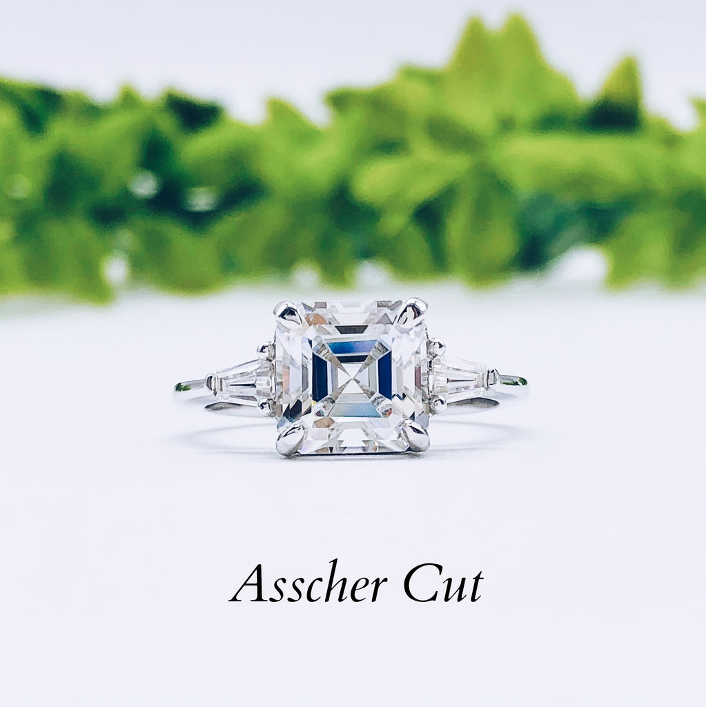 Where to buy Asscher Engagement ring wedding rings gold jewelry moissanite lab diamond manila philippines