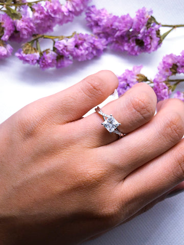 Princess Moissanite Engagement Ring Philippines Lucce