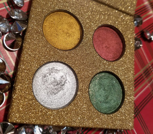 shade beauty, indie makeup, indie beauty, holiday 2018 collection, the filthy animal palette, shitters full, you'll shoot your eye out kid, you sit on a throne of lies, hate hate hate double hate loathe entirely, gold eyeshadow, red eyeshadow, silver eyeshadow, green eyeshadow, christmas palette, metallic eyeshadow, cruelty free, vegan