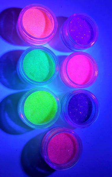 The 80s Baby Collection - 7 Piece UV Reactive Loose Glitter Bundle - Shade Beauty