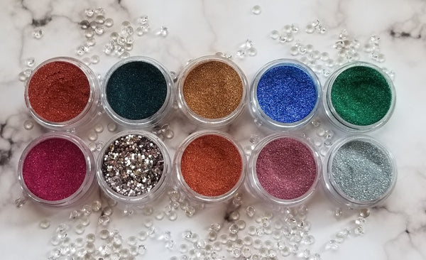 shade beauty, indie makeup, indie brand, handmade, artisan, made in the usa, made in michigan, cruelty free, vegan, glitter, loose glitter, festival makeup, orange glitter, sun kissed, sun kissed loose glitter, bronze glitter, copper glitter, orange glitter, holographic glitter, holographic bronze glitter
