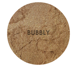 shade beauty, indie makeup, cruelty free makeup, vegan makeup, champagne highlighter, loose highlighter, bubbly, bubbly loose highlighter, sparkly highlighter, shimmery highlighter, metallic highlighter, highlighter for tan skin, makeup for medium skin