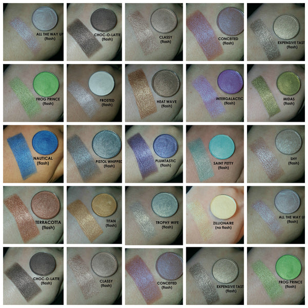 shade beauty, eyeshadow, vegan makeup, cruelty free makeup, swatches, shimmery eyeshadow, sparkly eyeshadow, metallic eyeshadow, neutral eyeshadow, nude eyeshadow, indie makeup, artisan makeup, blue eyeshadow, intergalactic, intergalactic pressed eyeshadow, purple eyeshadow, blue eyeshadow, duochrome eyeshadow, color shifting eyeshadow, multichrome eyeshadow
