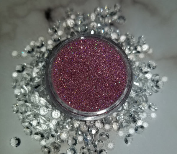 shade beauty, indie makeup, cruelty free, vegan, cosmetic grade glitter, pink glitter, holographic pink glitter, holographic glitter, love spell, love spell loose glitter