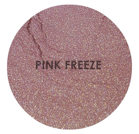 shade beauty, indie makeup, cruelty free makeup, vegan makeup, champagne highlighter, loose highlighter, pink freeze, pink freeze loose highlighter, pink highlighter, satin highlighter, duochrome highlighter