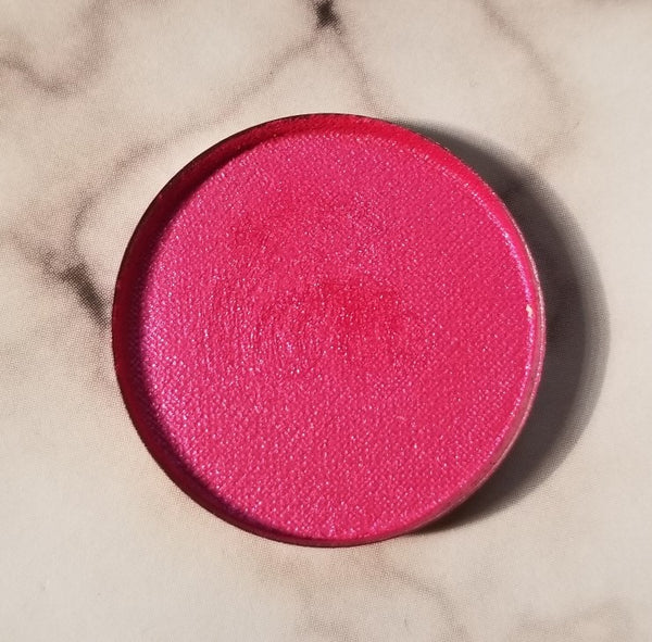 shade beauty, eyeshadow, vegan makeup, cruelty free makeup, swatches, shimmery eyeshadow, sparkly eyeshadow, metallic eyeshadow, neutral eyeshadow, nude eyeshadow, indie makeup, artisan makeup, pink 'rari, pink 'rari pressed eyeshadow, pink eyeshadow, hot pink eyeshadow, purple eyeshadow, duochrome eyeshadow