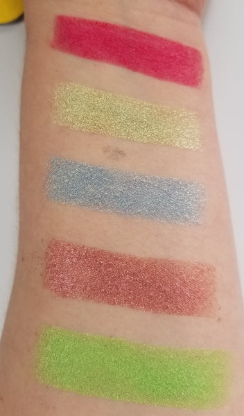 shade beauty, eyeshadow, vegan makeup, cruelty free makeup, swatches, shimmery eyeshadow, sparkly eyeshadow, metallic eyeshadow, neutral eyeshadow, nude eyeshadow, indie makeup, artisan makeup, electrifying, electrifying pressed eyeshadow, green eyeshadow, shimmery eyeshadow, makeup dupe