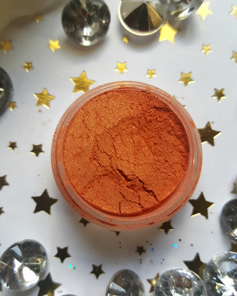 shade beauty, eyeshadow, vegan makeup, cruelty free makeup, swatches, shimmery eyeshadow, sparkly eyeshadow, metallic eyeshadow, neutral eyeshadow, nude eyeshadow, indie makeup, artisan makeup, tallahassee, tallahassee loose eyeshadow, orange eyeshadow, bright eyeshadow, best orange eyeshadows
