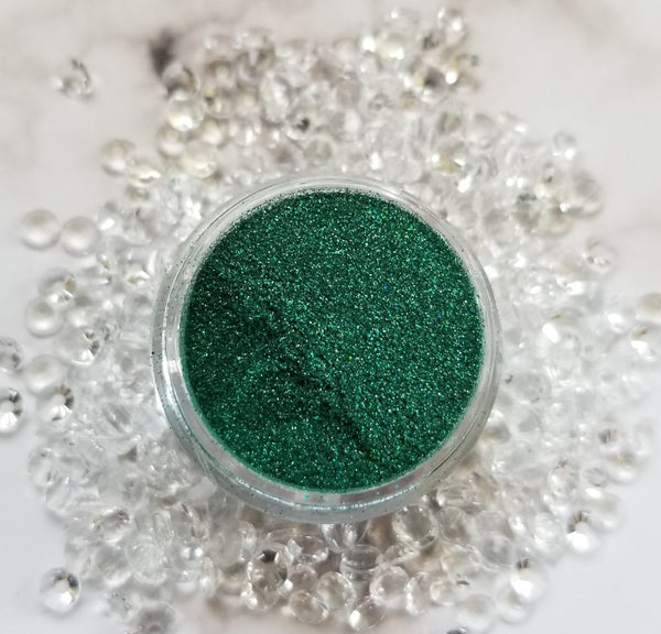 shade beauty, indie makeup, indie brand, handmade, artisan, made in the usa, made in michigan, cruelty free, vegan, glitter, loose glitter, festival makeup, green glitter, up in smoke, up in smoke loose glitter