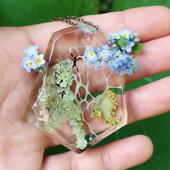 Resin Terrarium Necklaces