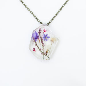 "Copy of Ladybird Collection - ""Resolution"" - Real Dried Flower Resin Necklace"