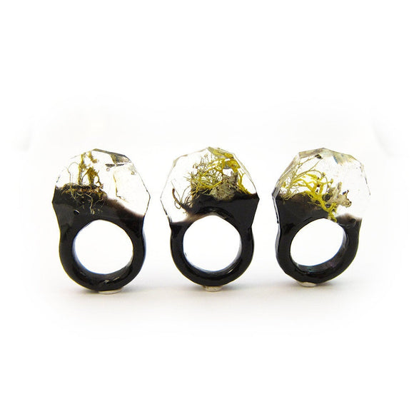 Terrarium Resin Ring | Size 7 US | 013