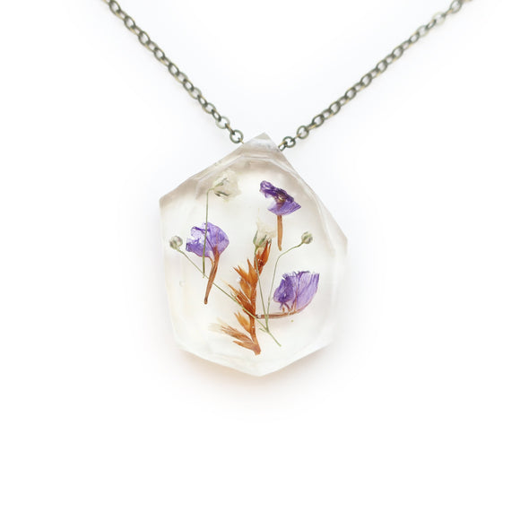 Real Flower Herbarium Resin Necklace
