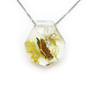 Lichen Terrarium Resin Necklace