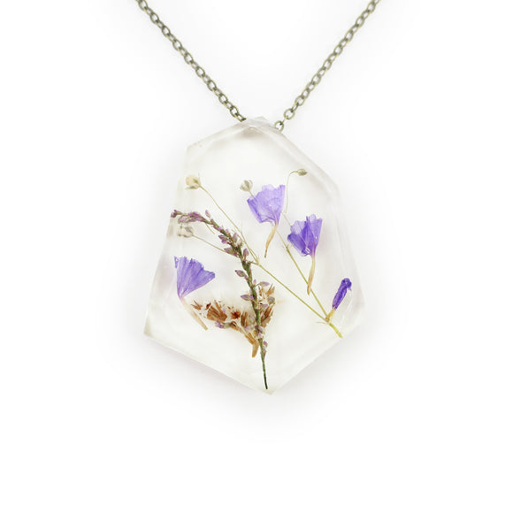 Real Dried Flower Flower Resin Herbarium Necklace
