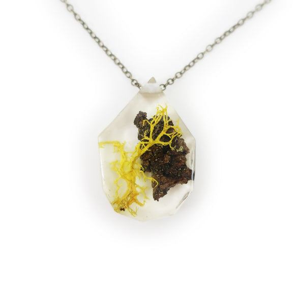 Twiggy Terrarium Eco Resin Moss Necklace | 005