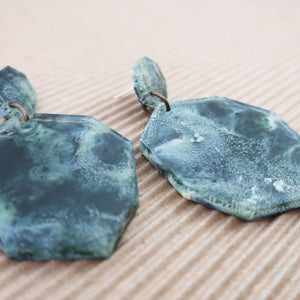 Fluid Art Resin Earrings - Poseidon Collection