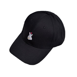 Newest Women Embroidery Baseball Cap Heart Fingers - Available Colors - Pink, White, Black