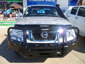 Navara D40 (Smooth OE Bumper) Commercial Bull Bar