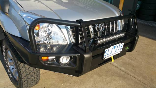 Deluxe Commercial Bull Bar to suit Prado 120 Series