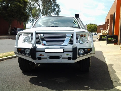 Navara D40 (Recessed line in OE Bumper) Deluxe Commercial Bull Bar