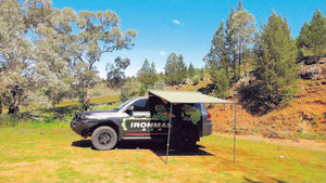 Instant Awning with Brackets 2m (L) x 2.5m (Out) with LED