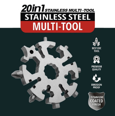 CraftsmanCapitol™ 20 in 1 Multi-Functional Snowflake Wrench Tool - Craftsman Capitol