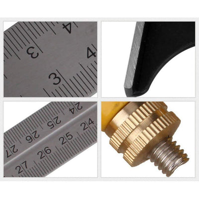 CraftsmanCapitol™ Premium 3 In1 Adjustable Universal Ruler Right Angle - Craftsman Capitol