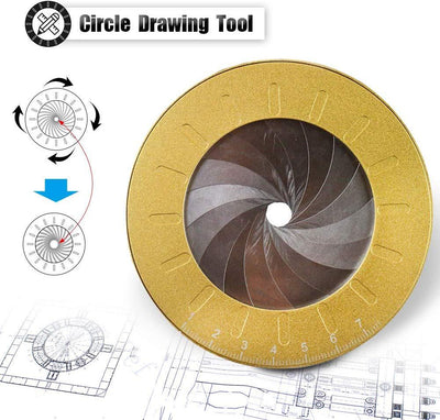CraftsmanCapitol™ Premium Adjustable Circle Drawing Maker Tool - Craftsman Capitol