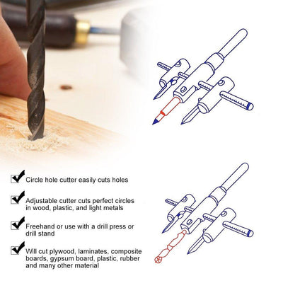 CraftsmanCapitol™ Premium Adjustable Circle Hole Wood Cutter - Craftsman Capitol