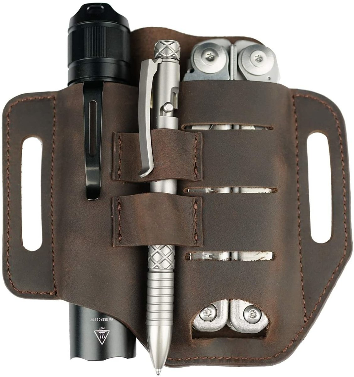 CraftsmanCapitol™ Premium Leather Sheath Tool Holder - Craftsman Capitol