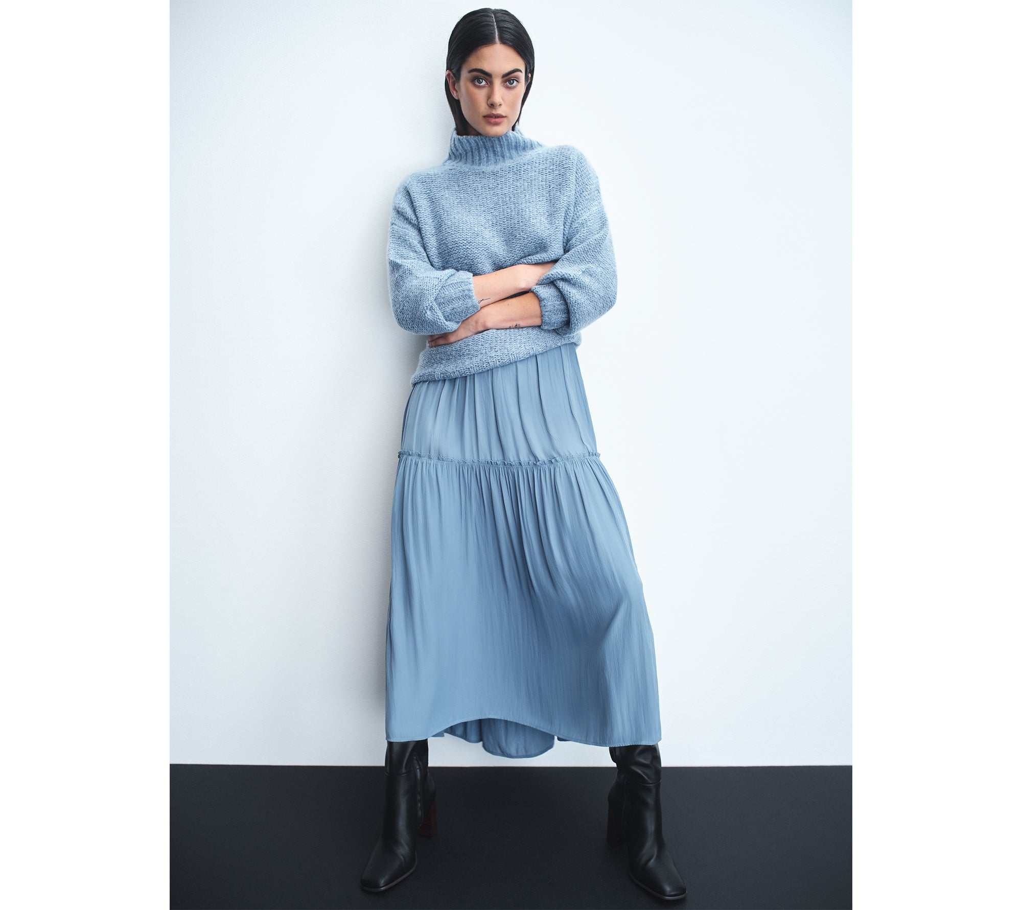 The Freya Chunky Funnel featured in The Forme's Winter '21 campaign