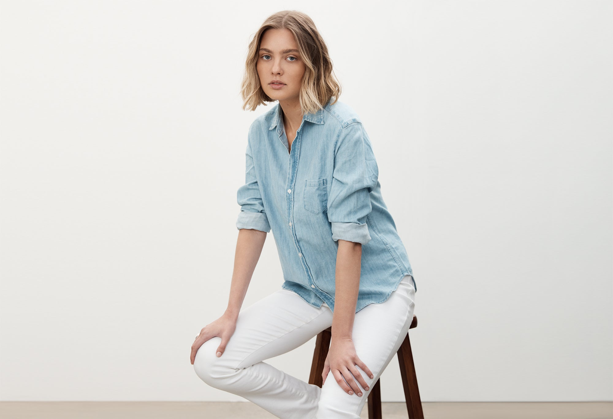 FRANK & EILEEN BARRY DENIM SHIRT