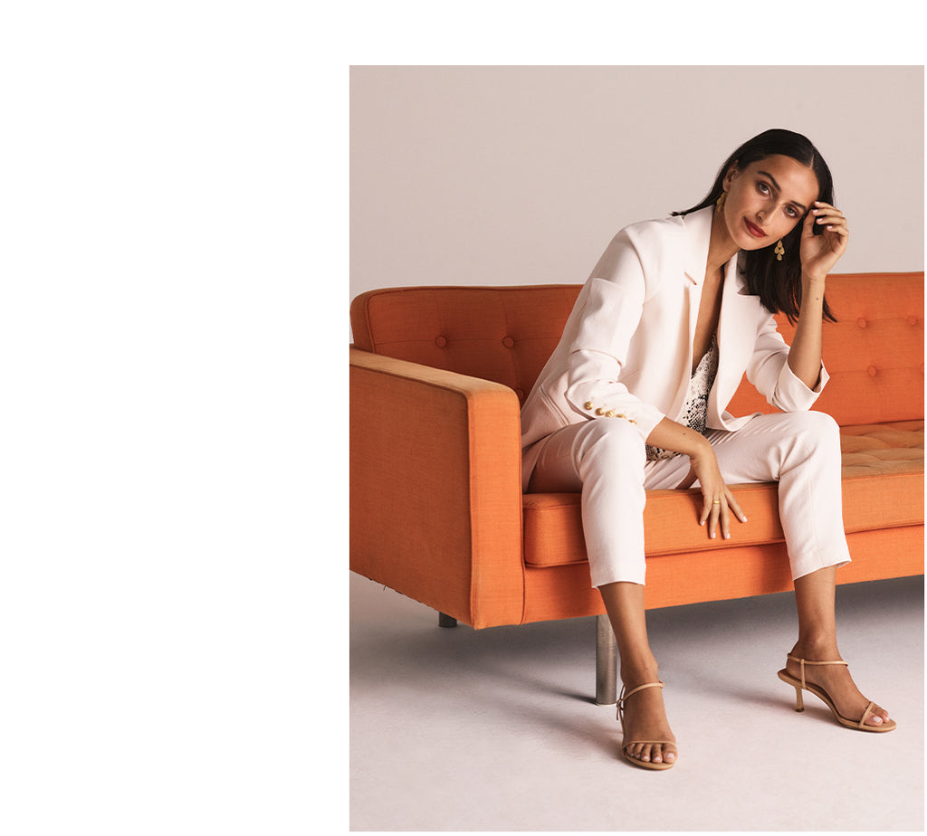 The stunning Bella Thomas wearing Estilo Emporio top, pants, & shoes for The Forme's S/S '19 Campaign.