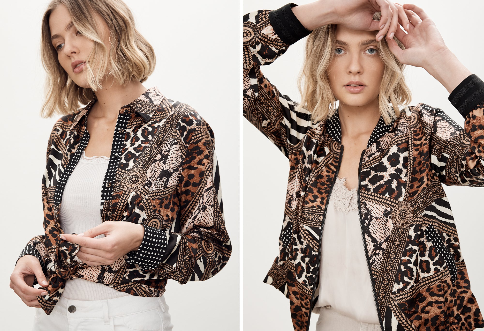 FELINE SHIRT AND FELINE BOMBER FROM VERGE