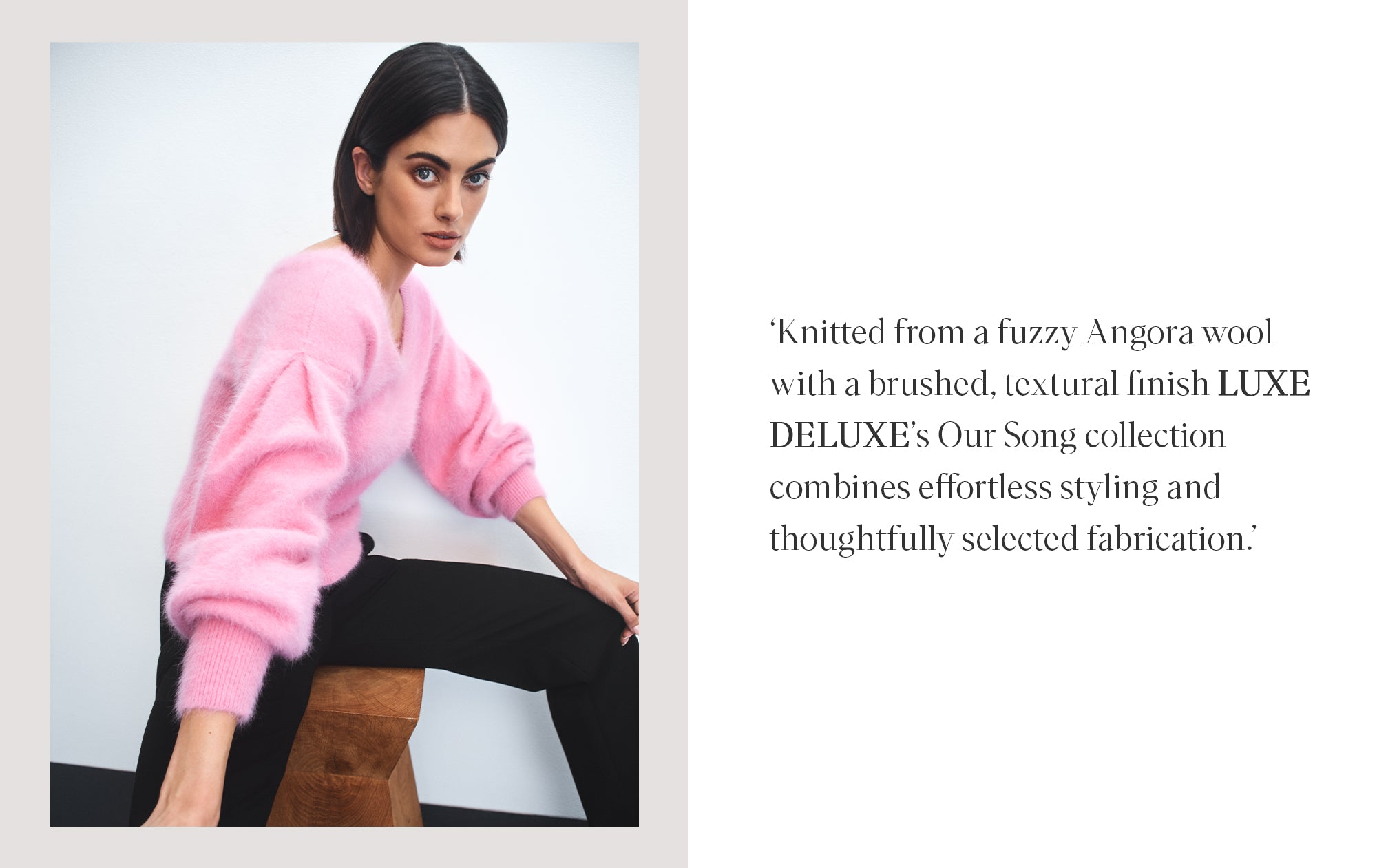 LUXE DELUXE OUR SONG KNITS