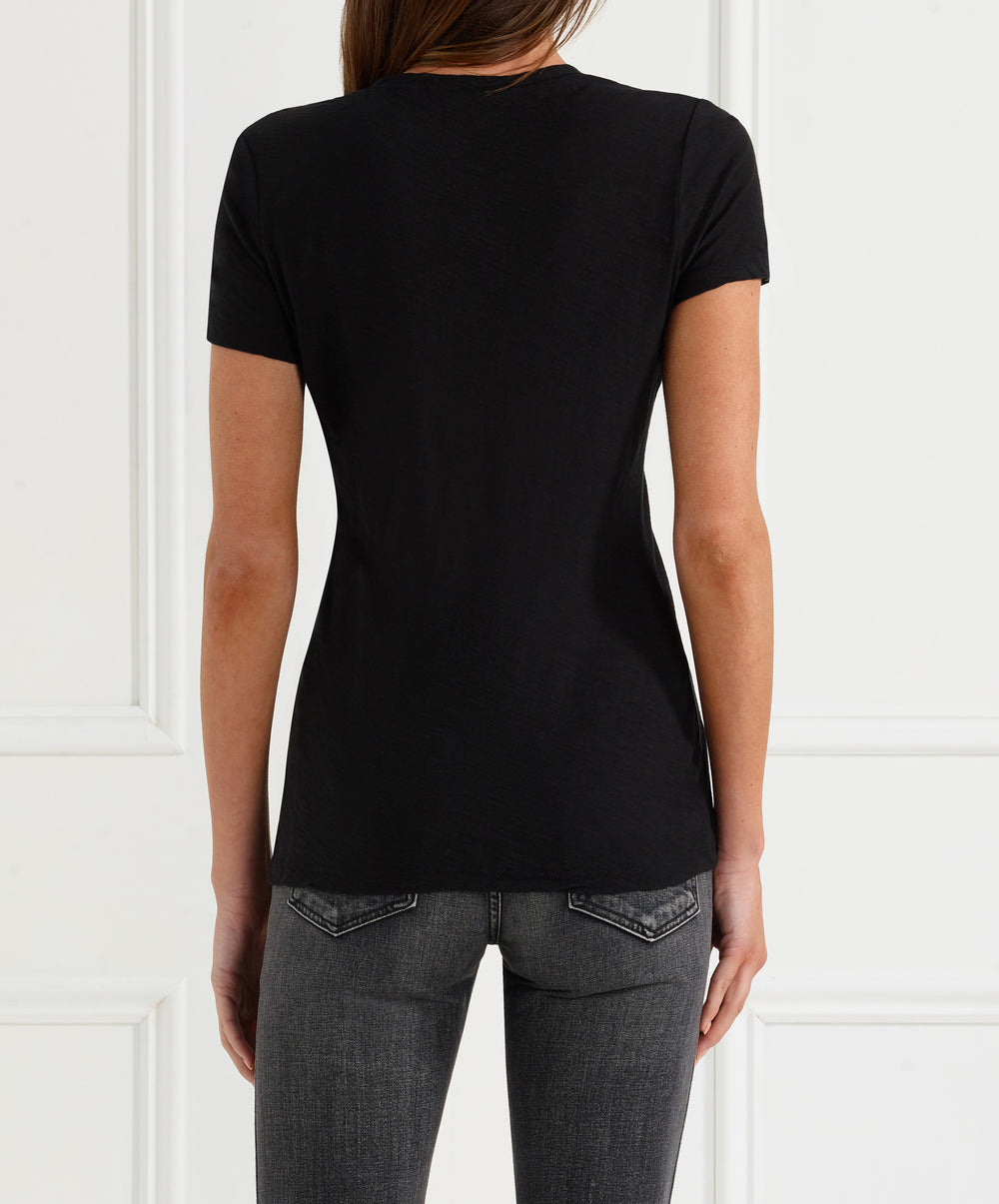 Casual Tee with Reverse Binding