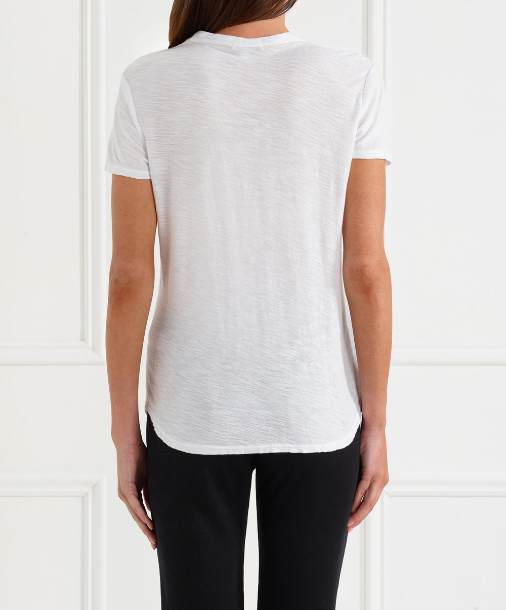Sheer Slub Crew Neck Tee