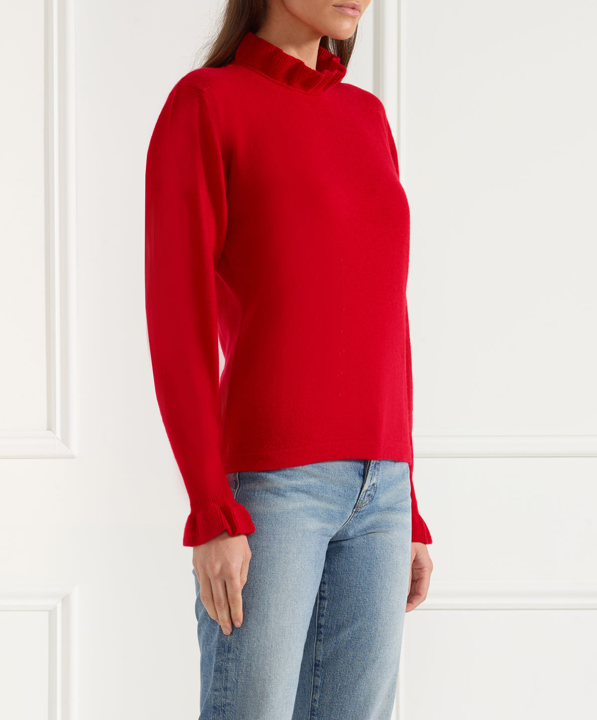 Pie Crust (Frill-Neck/Frill Sleeve) Sweater