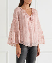 Load image into Gallery viewer, Everlasting Silk Dramatic Sleeve Blouse
