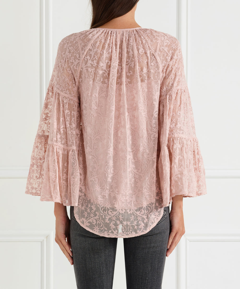 Everlasting Silk Dramatic Sleeve Blouse