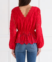 Load image into Gallery viewer, Here Comes The Sun Scallop Neck Blouse