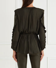 Load image into Gallery viewer, Look Twice Gathered Ruffle Sleeve L/S Blouse