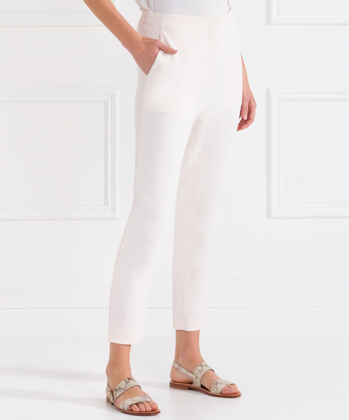 Day To Night Drop Crotch Crop Tapered Pant