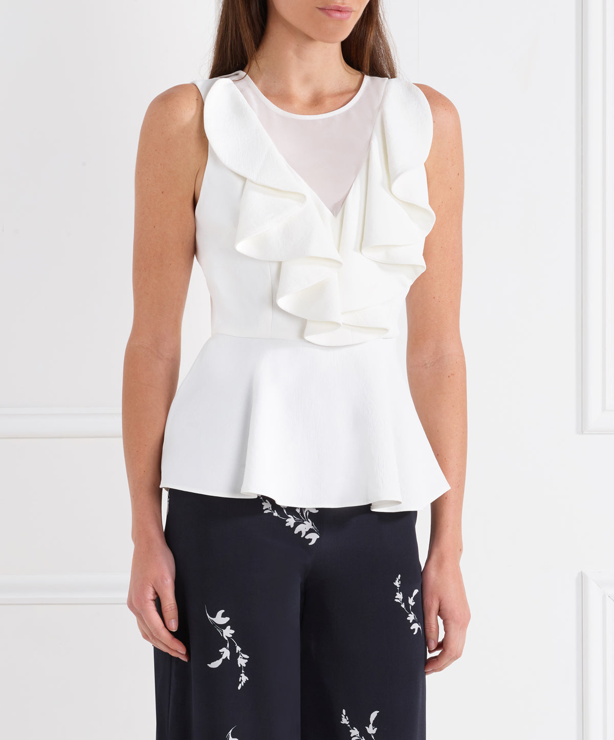 Day To Night Ruffle Peplum Top