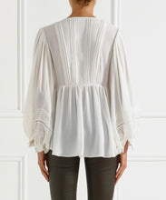 Load image into Gallery viewer, Moondust Lace Insert L/S Blouse