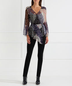 Always Perfect Asymmetric L/S Blouse W Cami