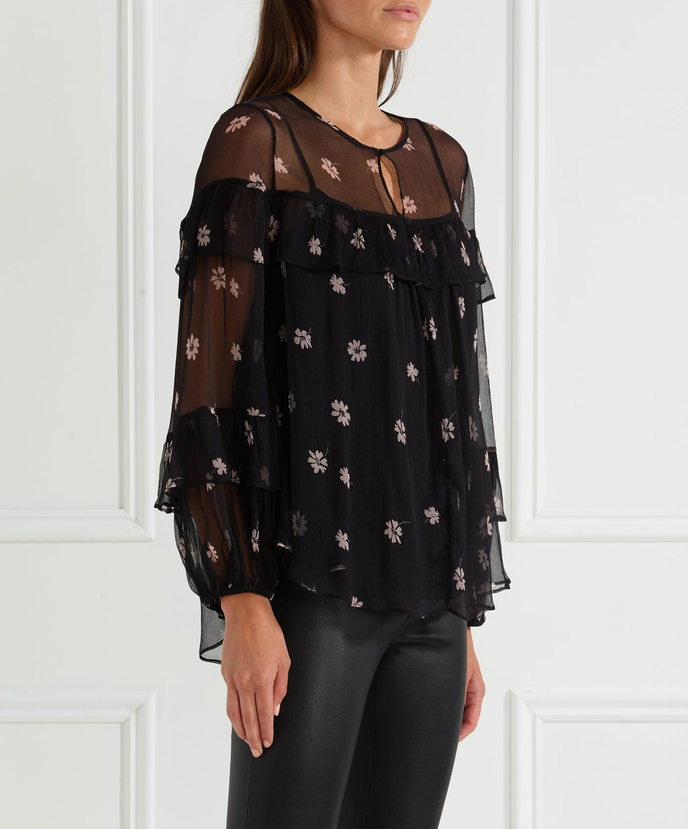 All For You Silk L/S Blouse W Cami