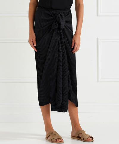 Look Twice Pleated Midi Skirt